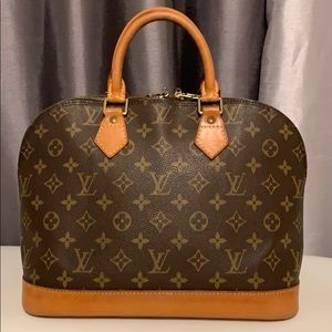Authentic Louis Vuitton Alma bag M51130 Brown